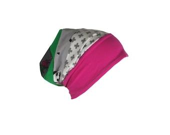 Beanie Baby cap, girl hat spring summer patchwork