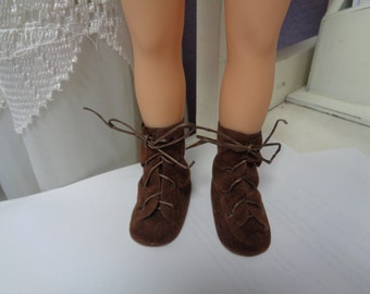 Soft Brown Suede Boots for Dolls- Fits  Hearts for Hearts Dolls Only