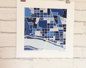 Georgetown University Map Print