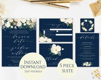 Wedding Invitation PDF Template Invitation Suite Template