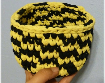 Fabric Basket Yellow and Black Clearance Sale
