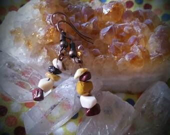 Mookaite earrings.
