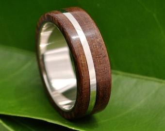 Size 5, READY TO SHIP Solsticio Nacascolo Wood Ring - ecofriendly wood wedding band, mens wedding band, wood wedding ring