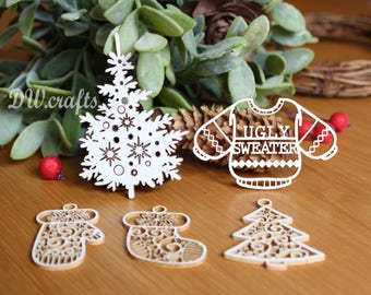 Christmas set of  chipboard for mixmedia scrapbooking