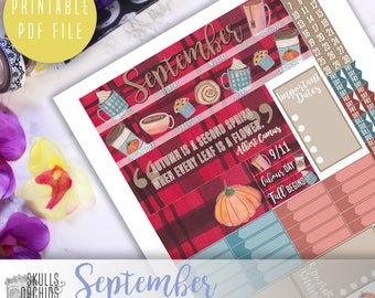 50% OFF! HAPPY PLANNER September Monthly View Kit – Printable Planner Stickers