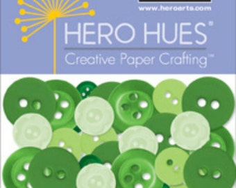 SALE Hero Arts Foliage Buttons Green CH260