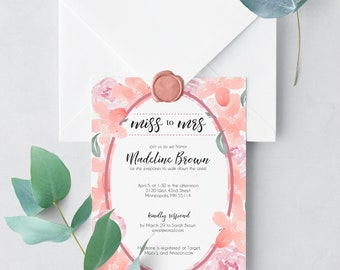 Soft and Delicate Floral - Bridal Shower - Custom Invitation