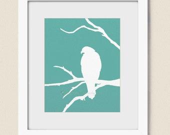 Osprey 8 x 10 Print, Custom Nature Art, Bird Wall Art Print, Wildlife, Tree Branches, Home Decor, Bird Art (76)