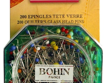 Superfine quilting pins pins / patchwork glass head pins and delicates / 26610