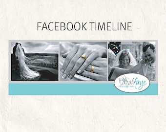 FACEBOOK banner blue Facebook timeline psd template - fully editable