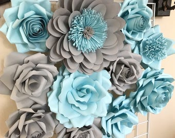 Paper Flowers Decoration  - Large Flowers - Baby Shower - Nursery Decor - Paper Flower Backdrop - Paper Flowers - Photo Shoot - Backdrop