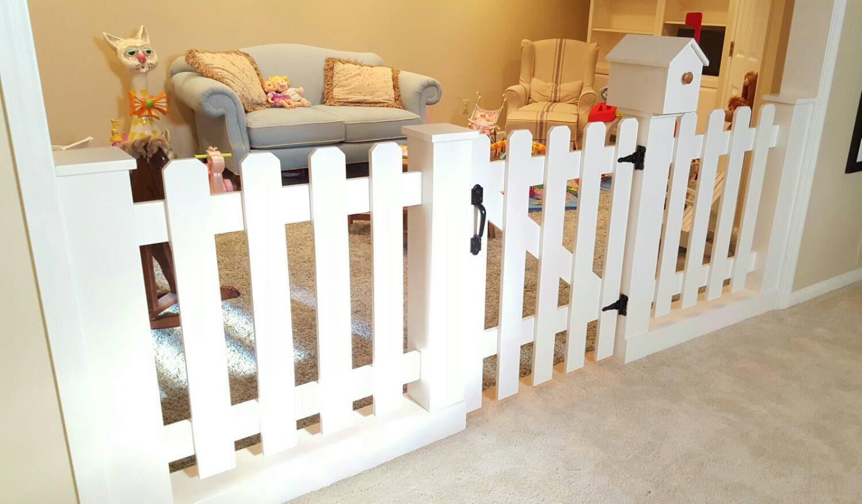 Shared Boys Bedroom Ideas Baby Gate Playroom Picket Fence Room Divider