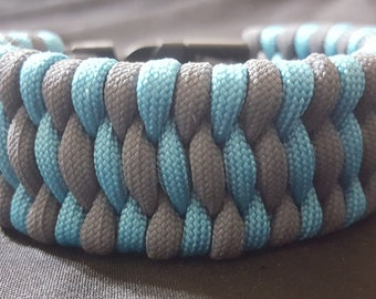 Turquoise and Graphite Trilobite Style Paracord Bracelet