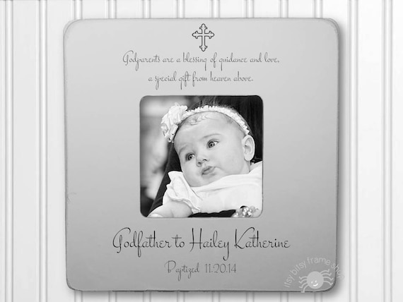 Godfather Gift Godfather Frame Gift for Godfather Baptism Frame ...