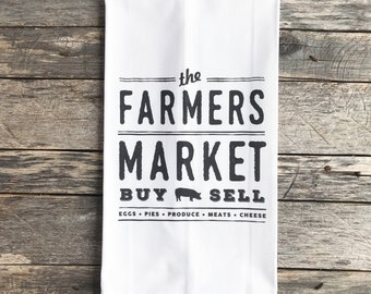 The Farmer's Market Tea Towel