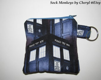 Doctor Who TARDIS Coin Pouch Change Purse Keychain