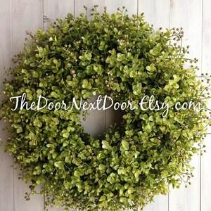 Eucalyptus Wreath - Summer Wreaths - Spring Wreath for Easter - Eucalyptus Door Hanger - Front Door Wreath - Year Round Wreath