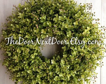 Eucalyptus Wreath - Summer Wreaths - Spring Wreath for Easter - Eucalyptus Door Hanger - Front Door Wreath - Year Round Wreath