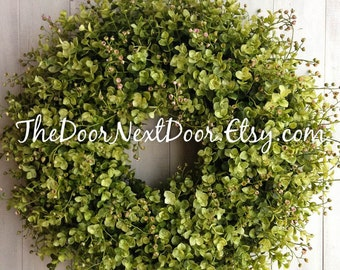 Eucalyptus Wreath   Summer Wreaths   Spring Wreath For Mothers Day    Eucalyptus Door Hanger