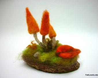 Small Orange Flame Toadstool Landscape©