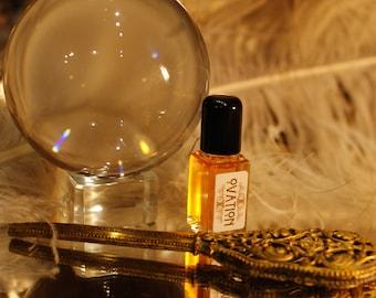 Ovation perfume  - Moroccan Rose, Palo Santo, Amber and Cardamom  - organic perfume by theater potion