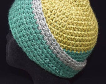 70's Earth Tones Crochet Cap