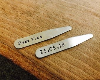 Best man gift, Usher gift, Personalised best man gift, Father of the bride gift, Father of the groom gift, collar stiffeners, collar stays,