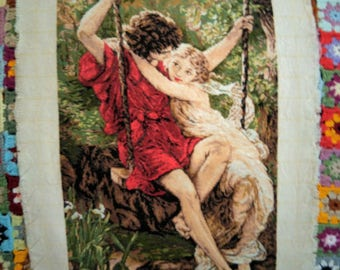 First love - Needlepoint tapestry wall art
