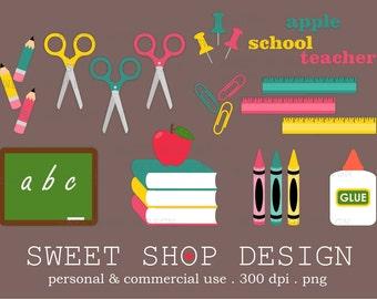 School Clip Art, Education Clip Art, Teacher Clip Art, Royalty Free Clip Art, Back To School, Instant Download