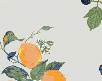 Frutteria Sand - Art Gallery Fabric - Mediterraneo byKatarina Roccella - Fruits and Nuts Fabric - Mediterranean Fabric - By the Yard