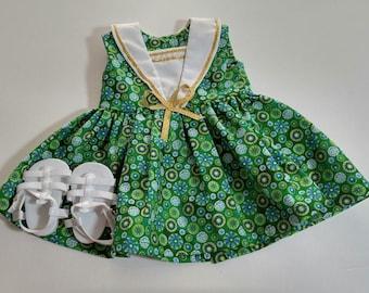 Green Sailor Style Dress