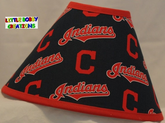 Baseball mlb cleveland indians fabric lamp shade 10 sizes to mozeypictures Image collections