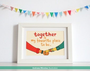 Together is My Favorite Place to Be, Cute Gift for Girlfriend, Gift for Boyfriend, Boyfriend Birthday Gift, Sweet Girlfriend Birthday Gift