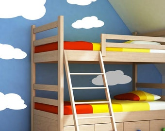 Puffy Cloud Wall Decal Set of 6