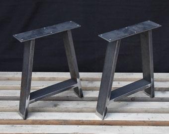 Steel bench legs coffee table legs metal legs square bench a shape steel bench legs coffee table legs metal legs square bench base coffee table base set2 watchthetrailerfo