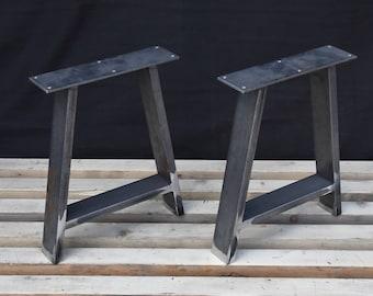 A   Shape , Steel Bench Legs, Coffee Table Legs, Metal Legs, Square Bench  Base, Coffee Table Base, SET(2)