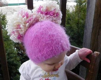 Baby hat Woodland Pom pom hat Kids winter hat Newborn, 6 Months, 12 months