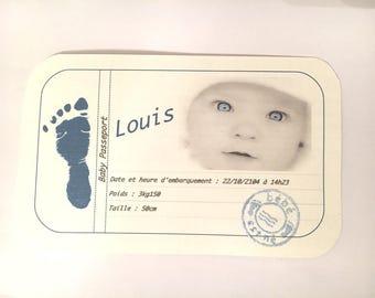Imitation Passport birth announcements