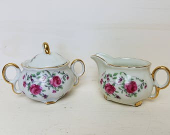 Royal Sealy Cream & Sugar Set made in Japan