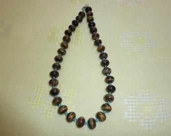 8mm Tiger Eye Necklace for Men, Women, Beaded Necklace, Tigereye Necklace, Mens womens Jewelry, Gift for Men, Women