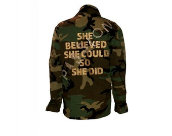 She Believed Camouflage Jacket - Hipchik