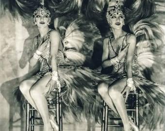 James Edward Abbe Photo, the Dolly Sisters, Casino de Paris, 1927