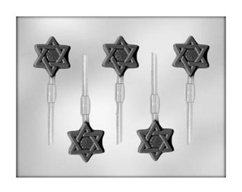Star of David Chocolate Lollipop Sucker Molds - Religious - Jewish Star - Party Favors - Baking Candy Making Party Supplies
