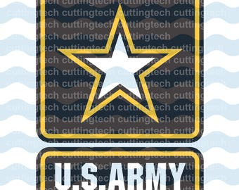 US Army Logo Svg- United States Army svg - INSTANT DOWNLOAD - 1-Dxf, Eps, Jpg, Png, Svg - Cricut - Silhouette