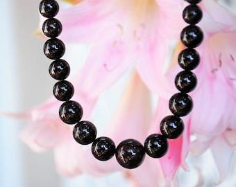 Red Garnet beaded semi-precious Gemstone necklace Garnet jewelry Gemstone jewelry
