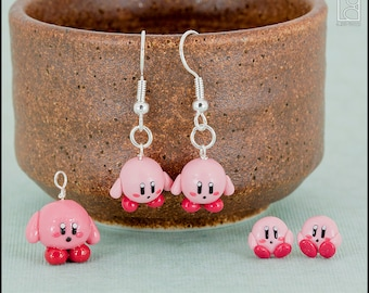 Kirby Charm or Earrings (Made to Order)