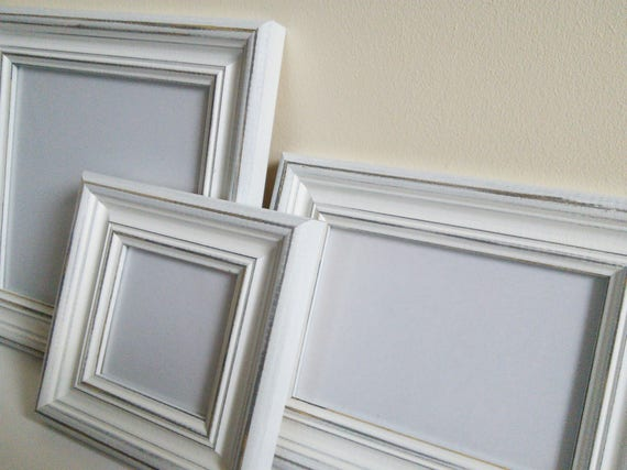 Distressed white frame picture frame photo frame A3 poster