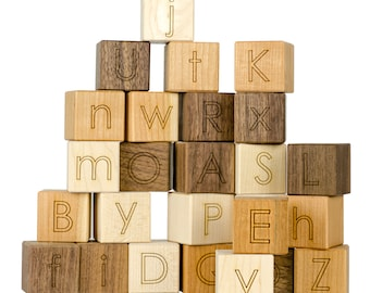 Alphabet Blocks - Baby Shower Gift - Nursery - New Baby Gift - Nursery Decor - Wooden Blocks