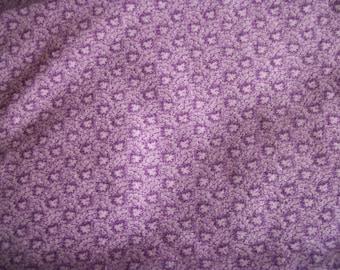 Lilac Leaf-like Splotches Fabric - two thirds of a yard