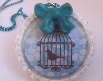 """necklace """"Bird in a Cage"""" Code BIACB3"""